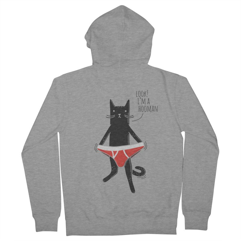 Look! I'm a Hooman Men's French Terry Zip-Up Hoody by Beards and Cats Store