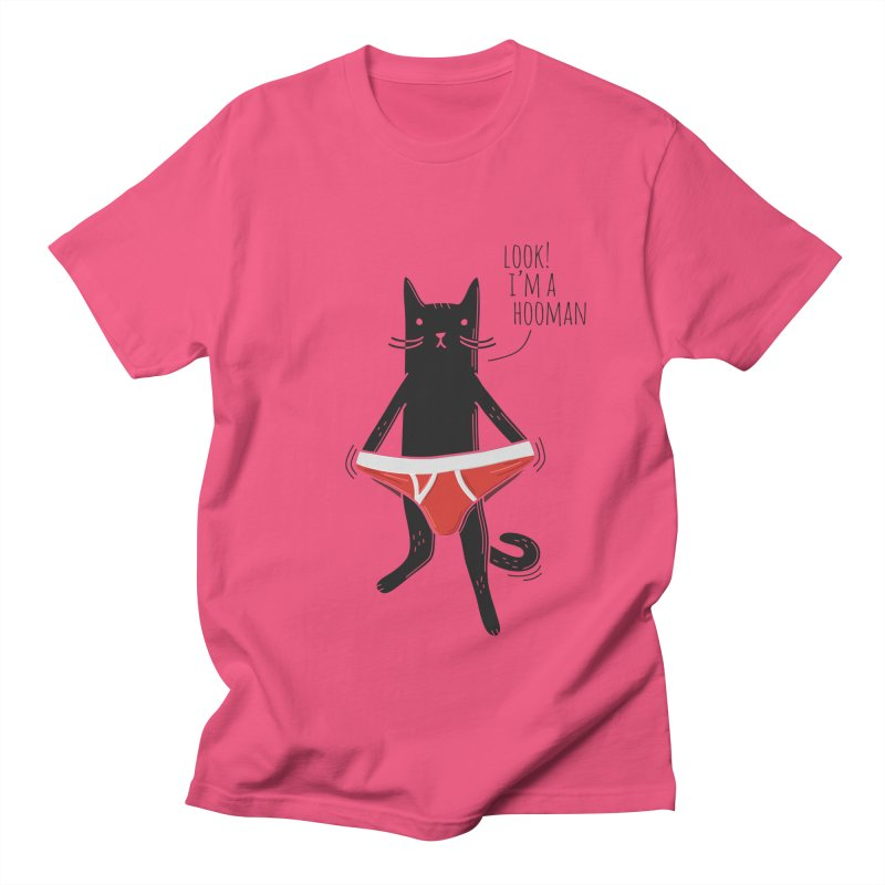 Look! I'm a Hooman Women's Regular Unisex T-Shirt by Beards and Cats Store