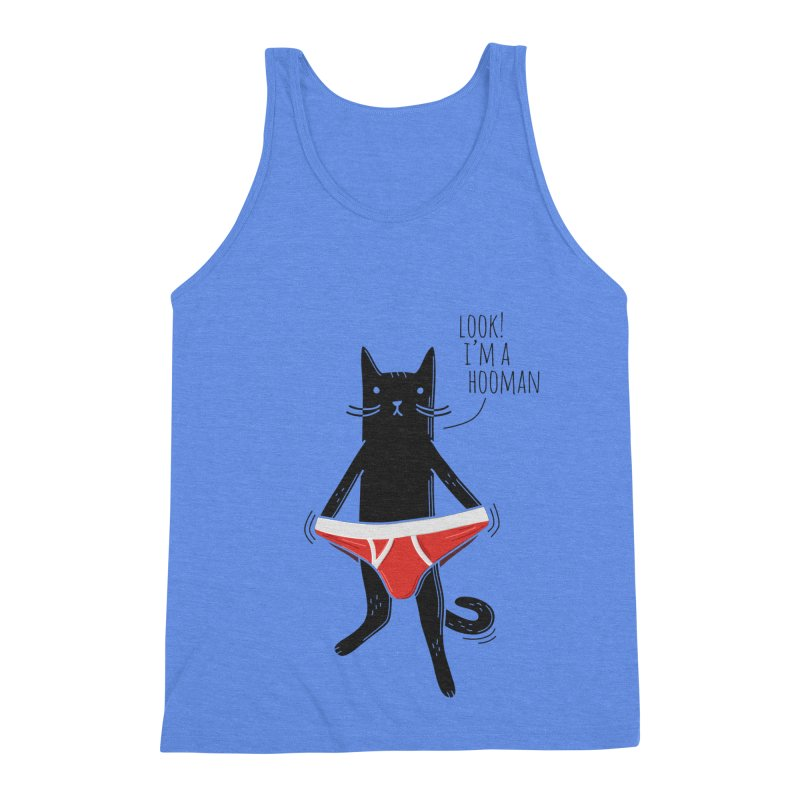 Look! I'm a Hooman Men's Triblend Tank by Beards and Cats Store