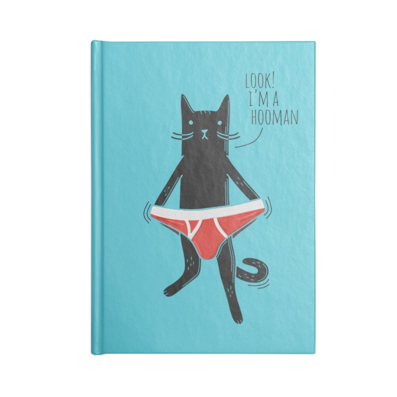 Look! I'm a Hooman Accessories Blank Journal Notebook by Beards and Cats Store