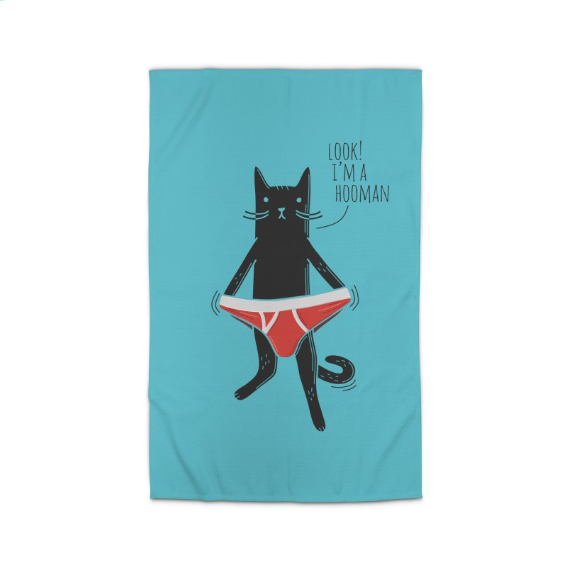 Look! I'm a Hooman Home Rug by Beards and Cats Store