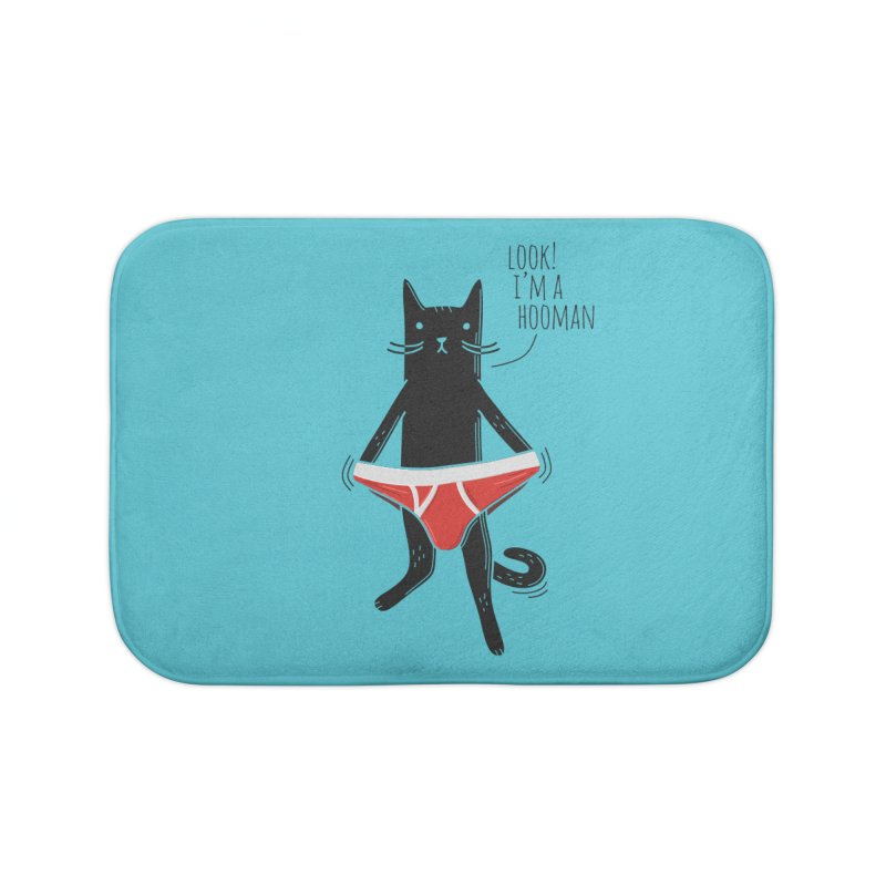 Look! I'm a Hooman Home Bath Mat by Beards and Cats Store