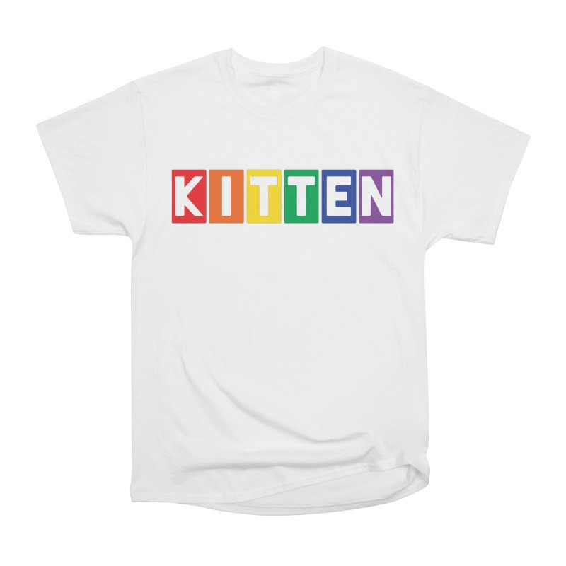 Proud Kitten in Men's Heavyweight T-Shirt White by Beards and Cats Store