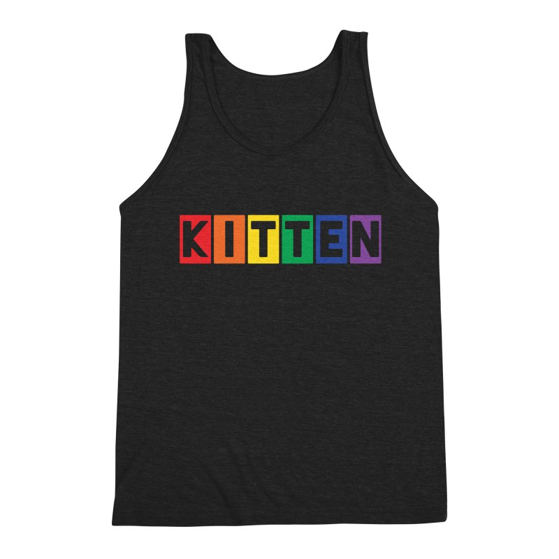 Proud Kitten Men's Triblend Tank by Beards and Cats Store