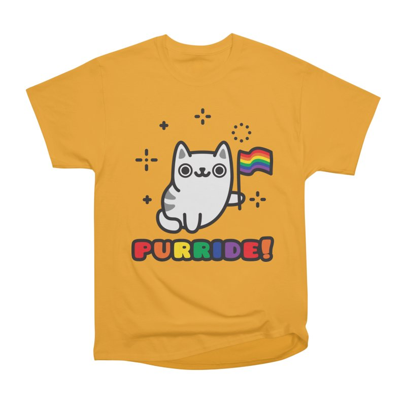 Purride! in Men's Heavyweight T-Shirt Gold by Beards and Cats Store
