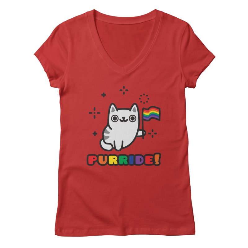 Purride! Women's Regular V-Neck by Beards and Cats Store