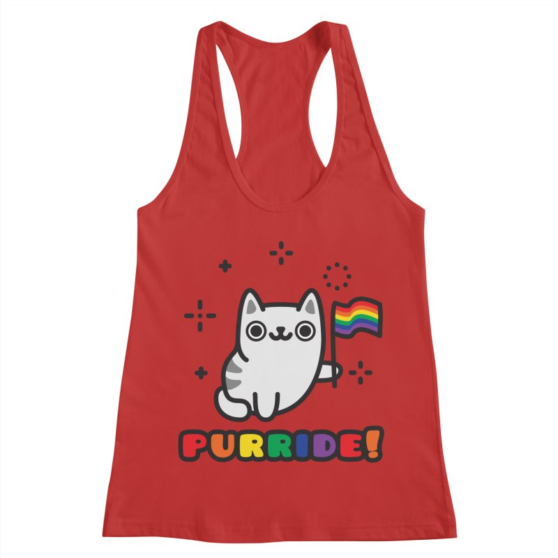 Purride! Women's Racerback Tank by Beards and Cats Store