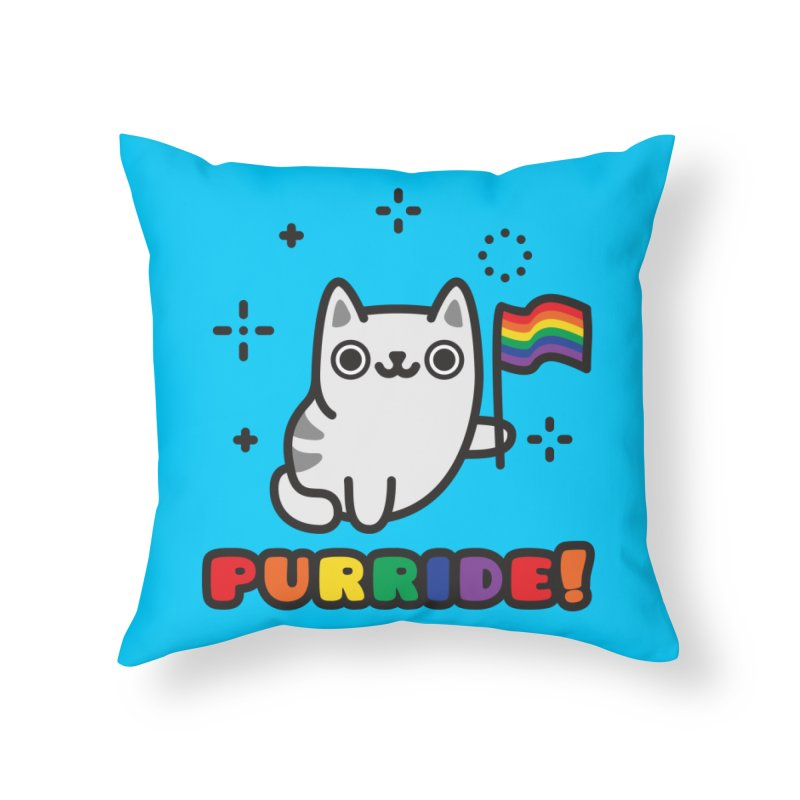 Purride! Home Throw Pillow by Beards and Cats Store