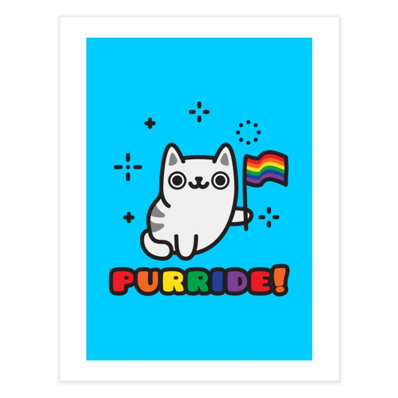 Purride! Home Fine Art Print by Beards and Cats Store