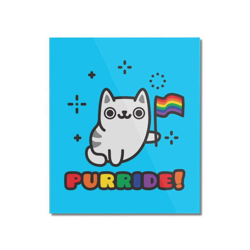 Purride! Home Mounted Acrylic Print by Beards and Cats Store