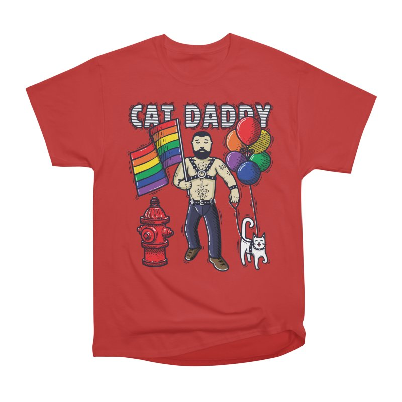 Cat Daddy: Pride Men's Heavyweight T-Shirt by Beards and Cats Store