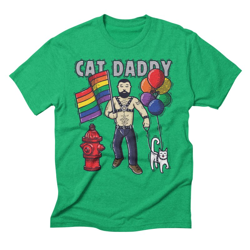 Cat Daddy: Pride Men's Triblend T-Shirt by Beards and Cats Store