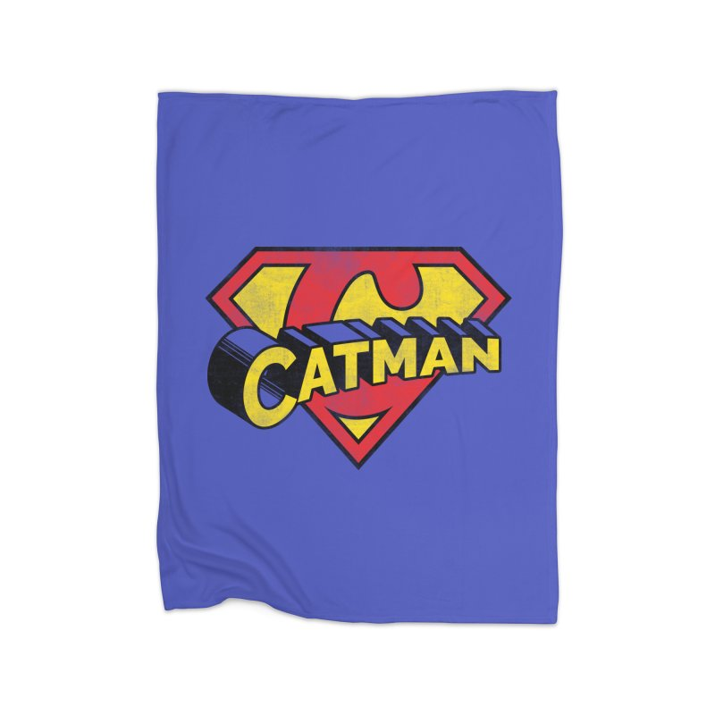 Catman Home Fleece Blanket Blanket by Beards and Cats Store