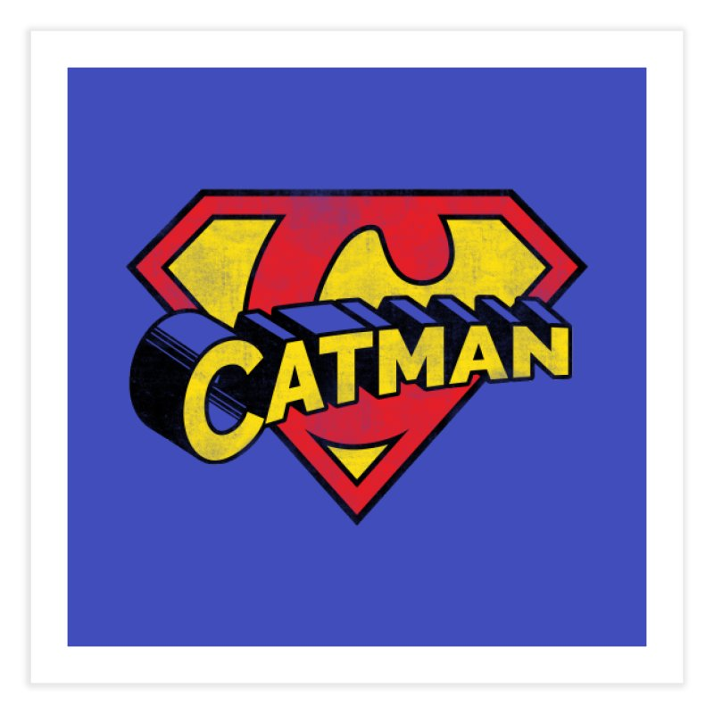 Catman Home Fine Art Print by Beards and Cats Store