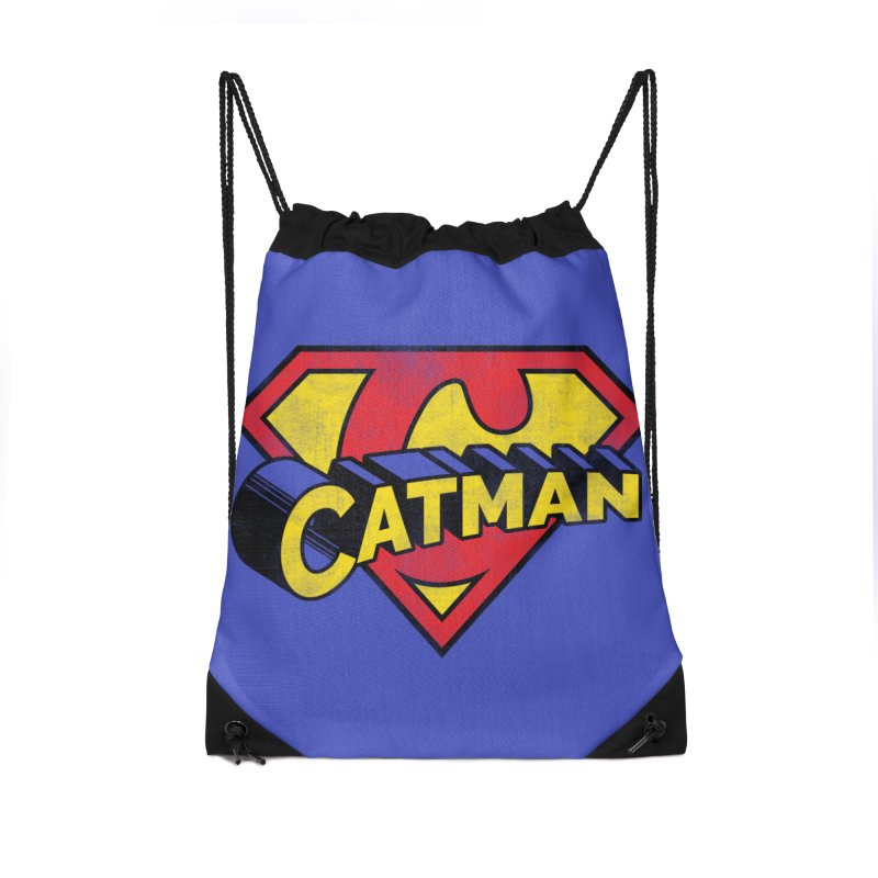 Catman Accessories Drawstring Bag Bag by Beards and Cats Store