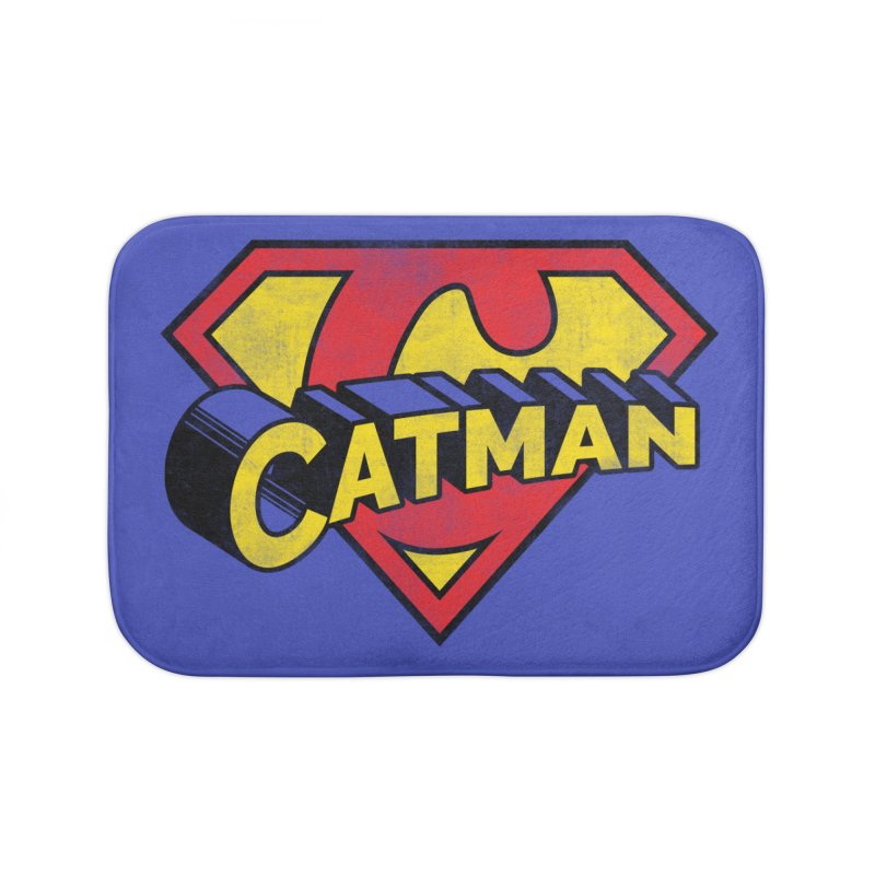 Catman Home Bath Mat by Beards and Cats Store