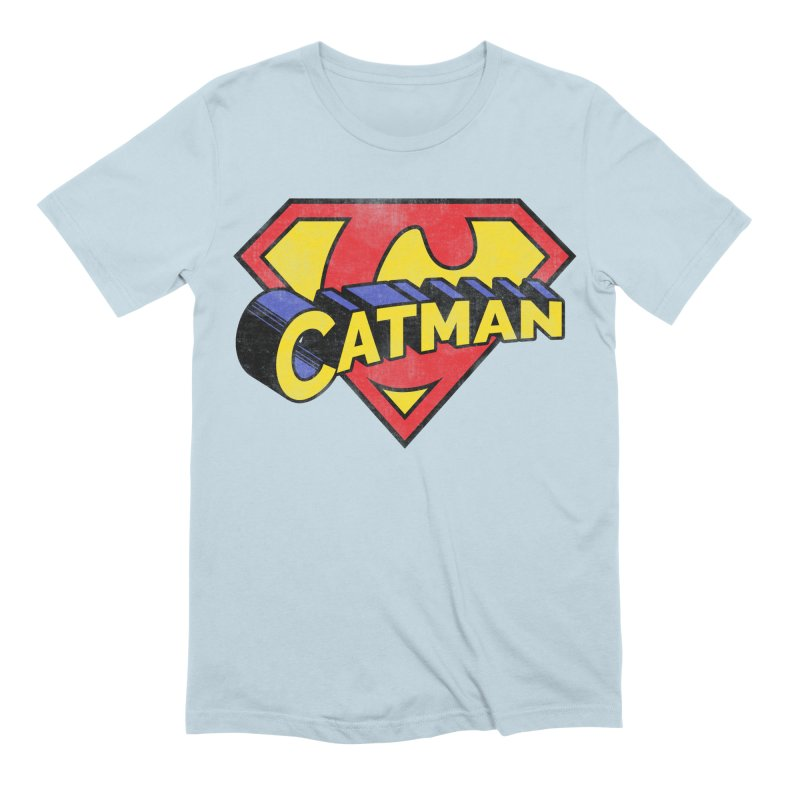 Catman Men's Extra Soft T-Shirt by Beards and Cats Store