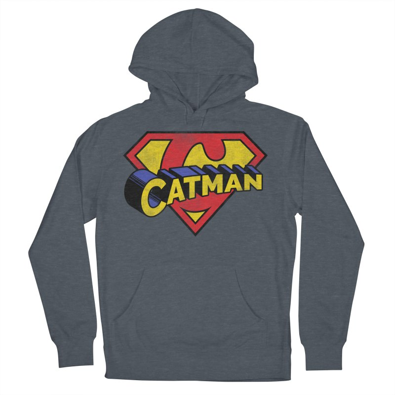 Catman Men's French Terry Pullover Hoody by Beards and Cats Store