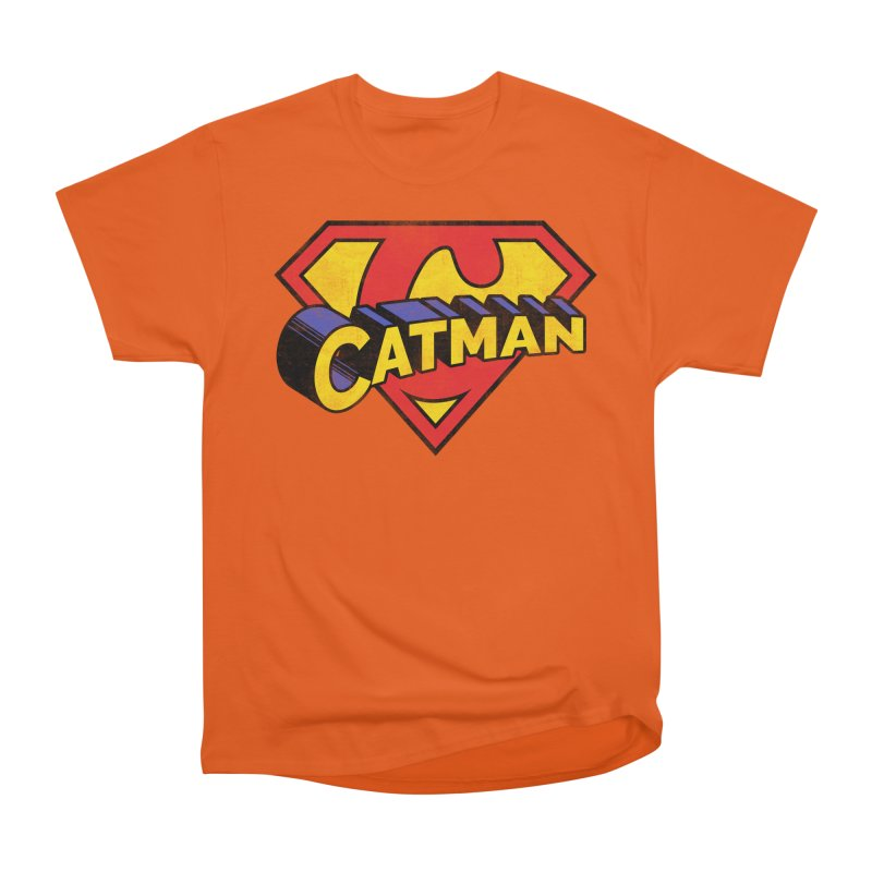 Catman Men's Heavyweight T-Shirt by Beards and Cats Store
