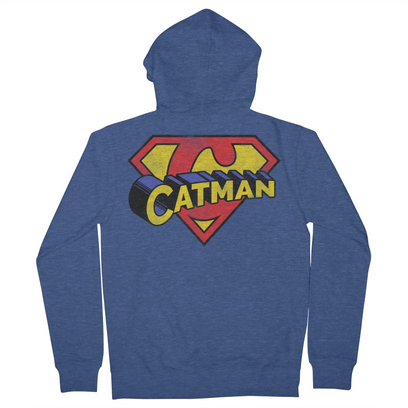 Catman Men's French Terry Zip-Up Hoody by Beards and Cats Store