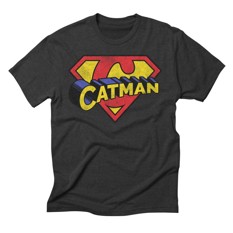 Catman Men's Triblend T-Shirt by Beards and Cats Store