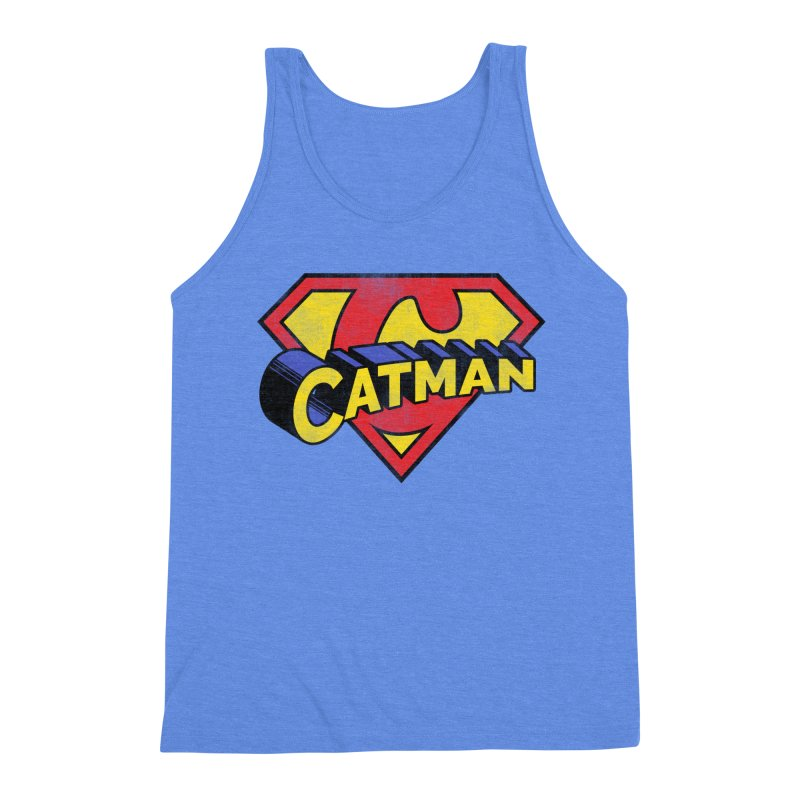 Catman Men's Triblend Tank by Beards and Cats Store