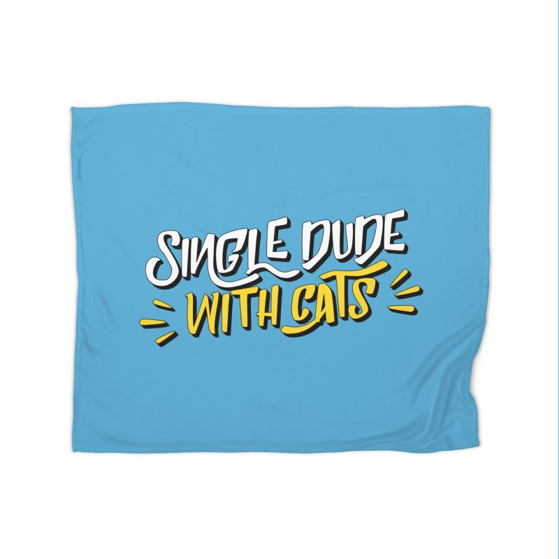 Single Dude With Cats Home Fleece Blanket Blanket by Beards and Cats Store