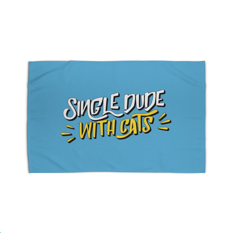 Single Dude With Cats Home Rug by Beards and Cats Store