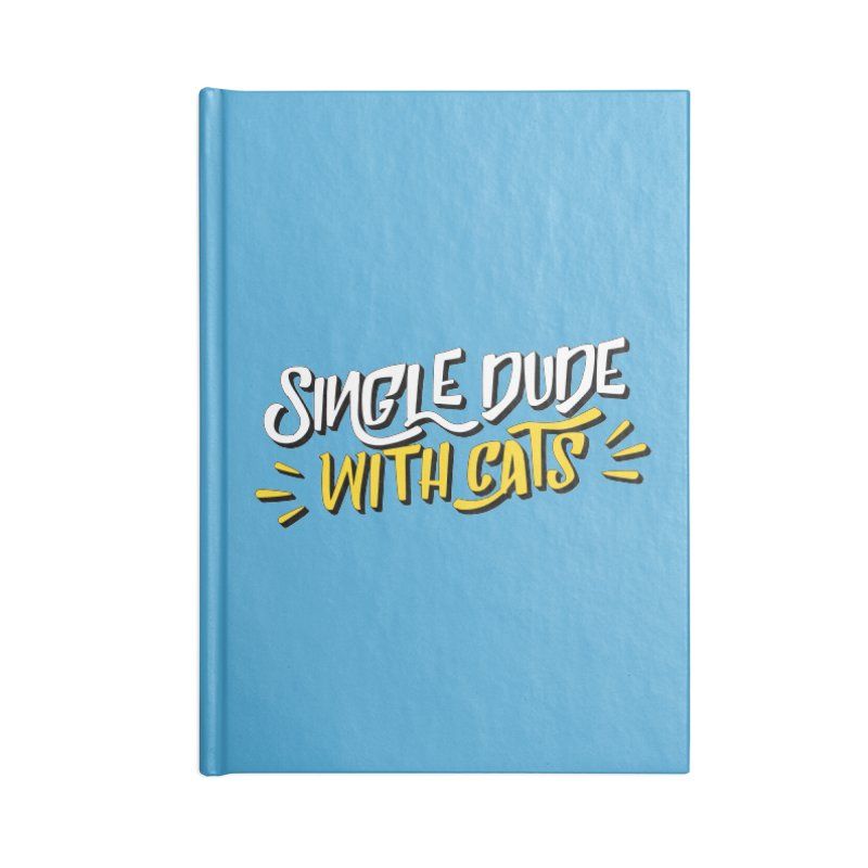 Single Dude With Cats Accessories Lined Journal Notebook by Beards and Cats Store