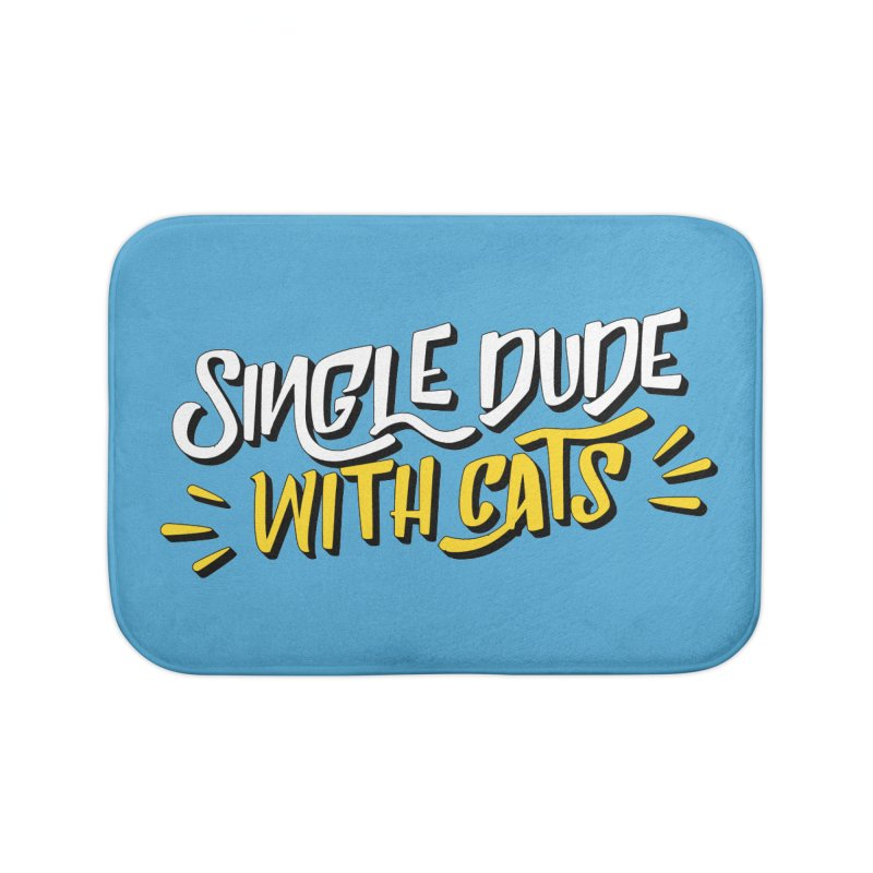 Single Dude With Cats Home Bath Mat by Beards and Cats Store