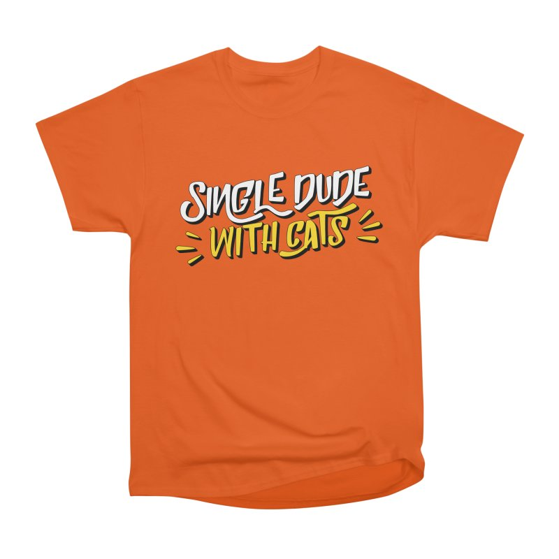 Single Dude With Cats Men's T-Shirt by Beards and Cats