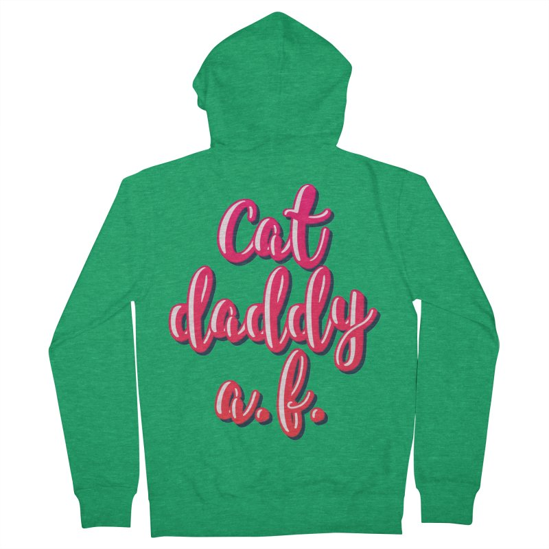 Cat Daddy AF Men's French Terry Zip-Up Hoody by Beards and Cats Store