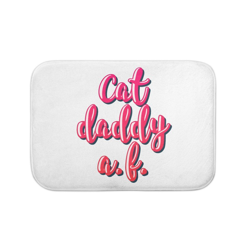 Cat Daddy AF in Bath Mat by Beards and Cats Store