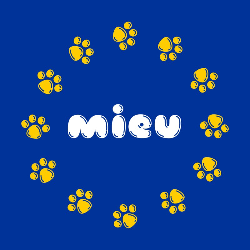 miEU Men's T-Shirt by Beards and Cats