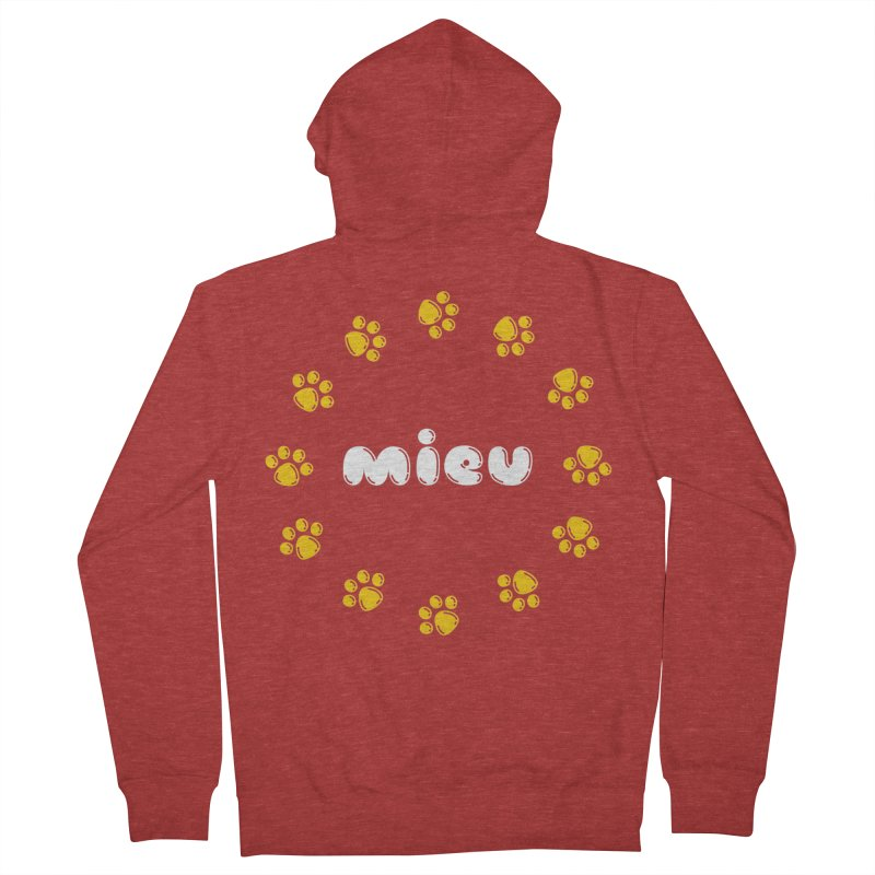 miEU Men's French Terry Zip-Up Hoody by Beards and Cats Store