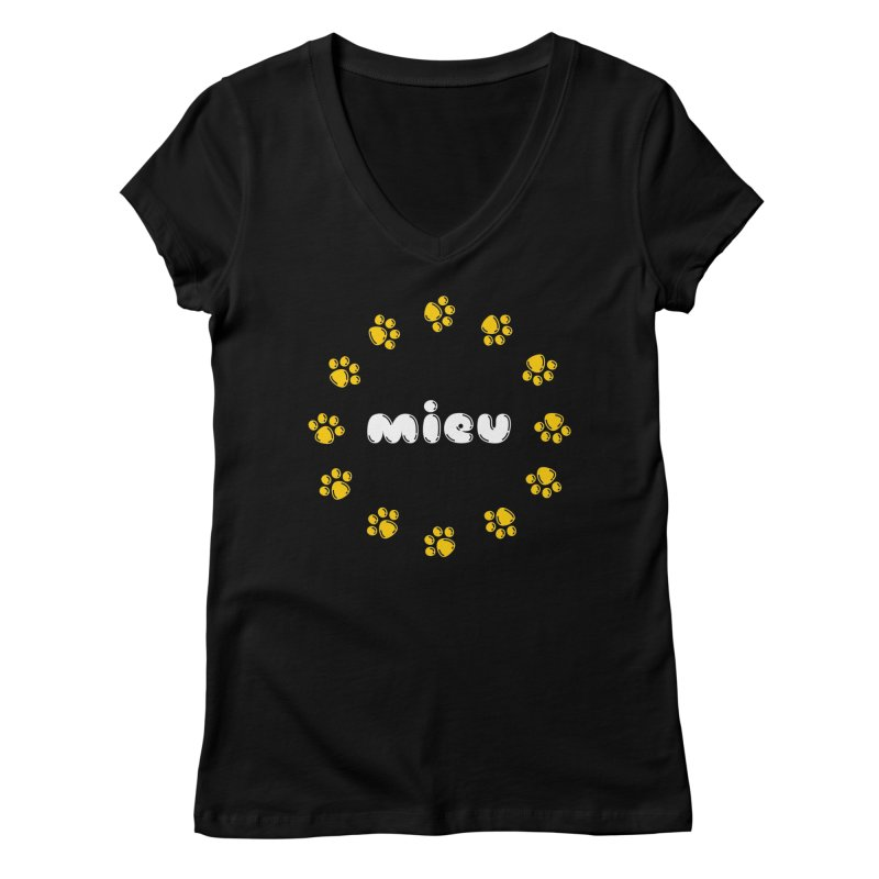 miEU Women's Regular V-Neck by Beards and Cats Store