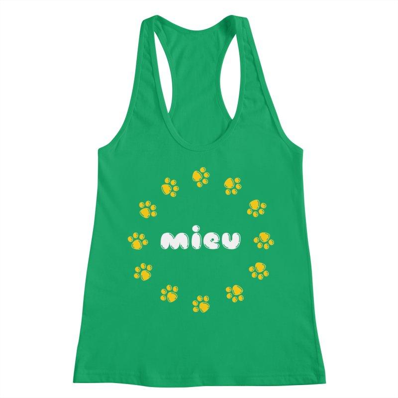 miEU Women's Racerback Tank by Beards and Cats Store