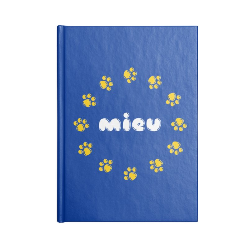 miEU Accessories Blank Journal Notebook by Beards and Cats Store