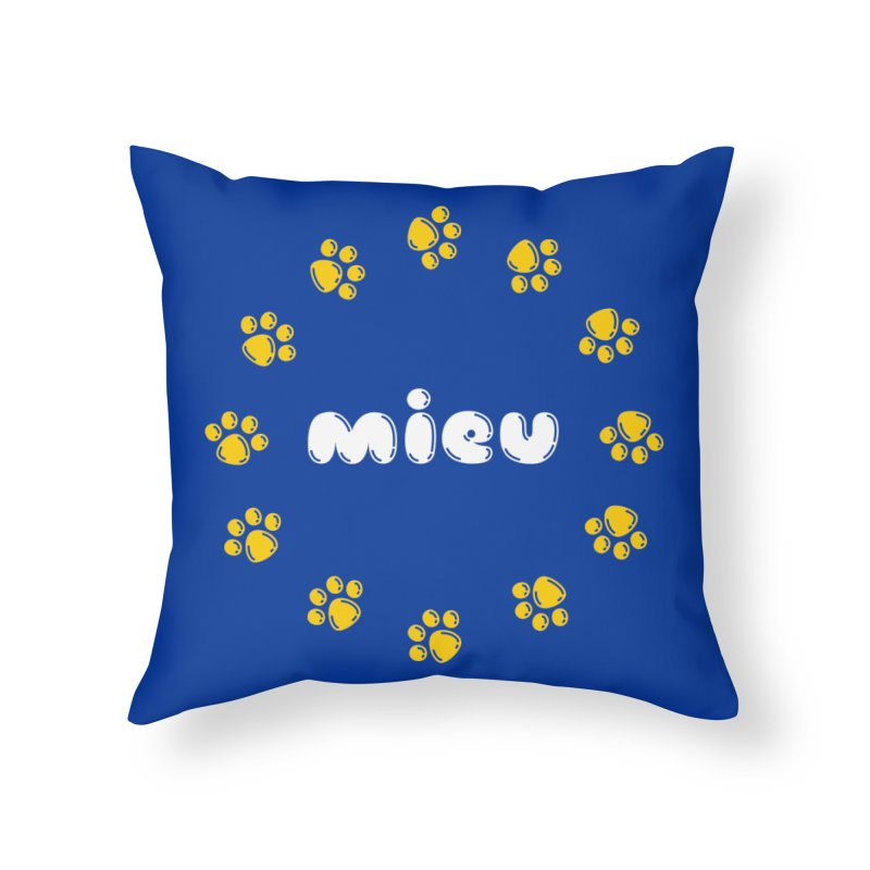miEU Home Throw Pillow by Beards and Cats Store