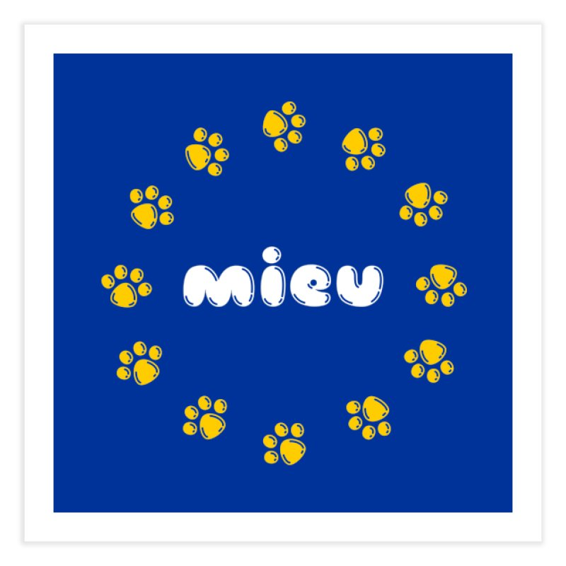 miEU Home Fine Art Print by Beards and Cats Store