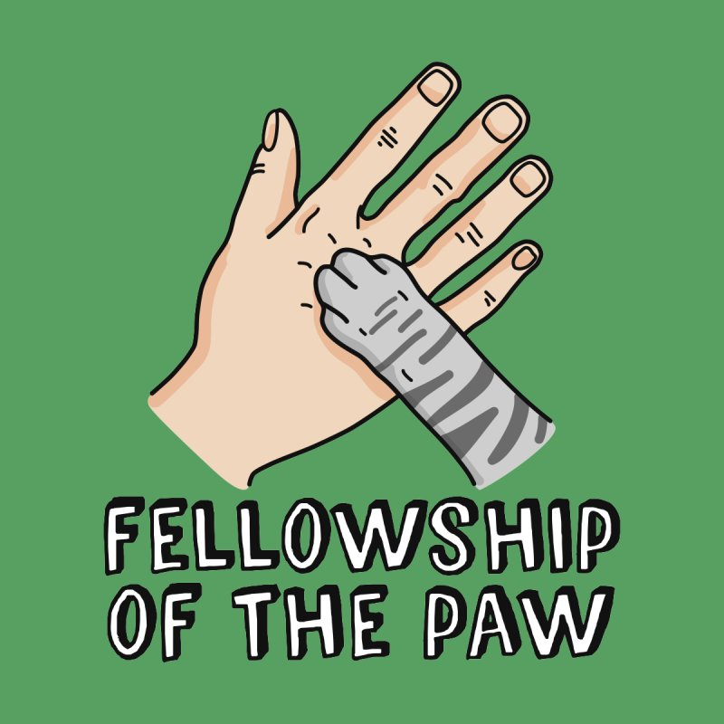 Fellowship of the Paw Men's T-Shirt by Beards and Cats