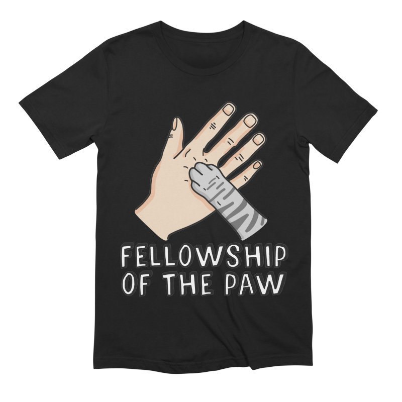 Fellowship of the Paw Men's Extra Soft T-Shirt by Beards and Cats Store