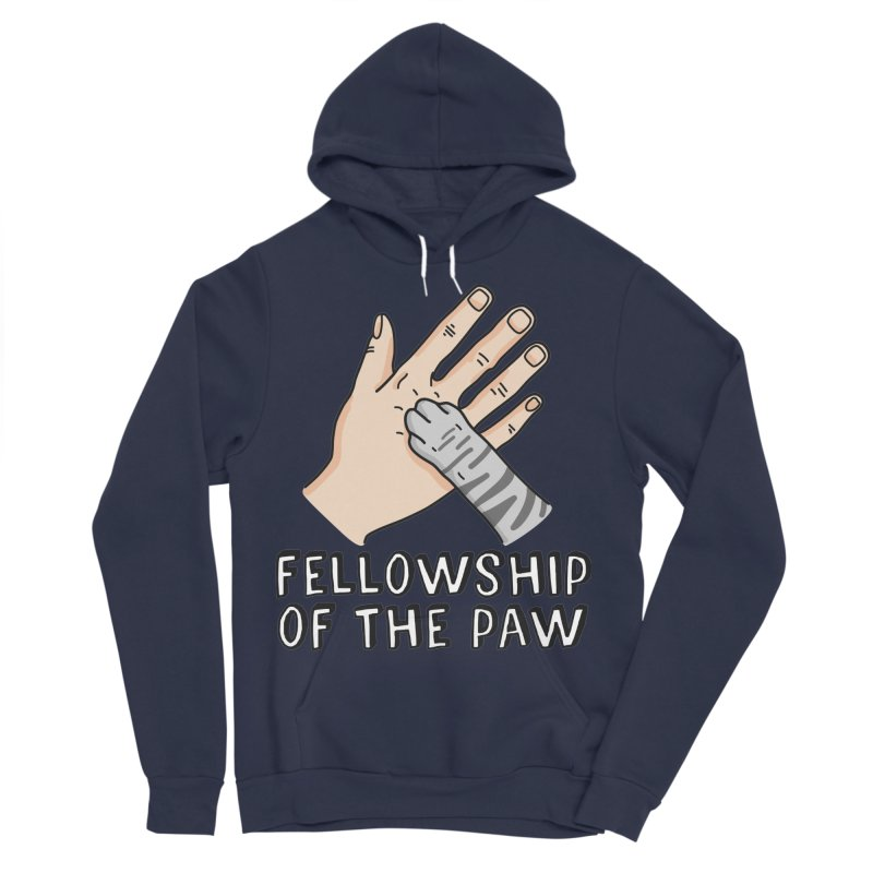 Fellowship of the Paw Women's Sponge Fleece Pullover Hoody by Beards and Cats Store