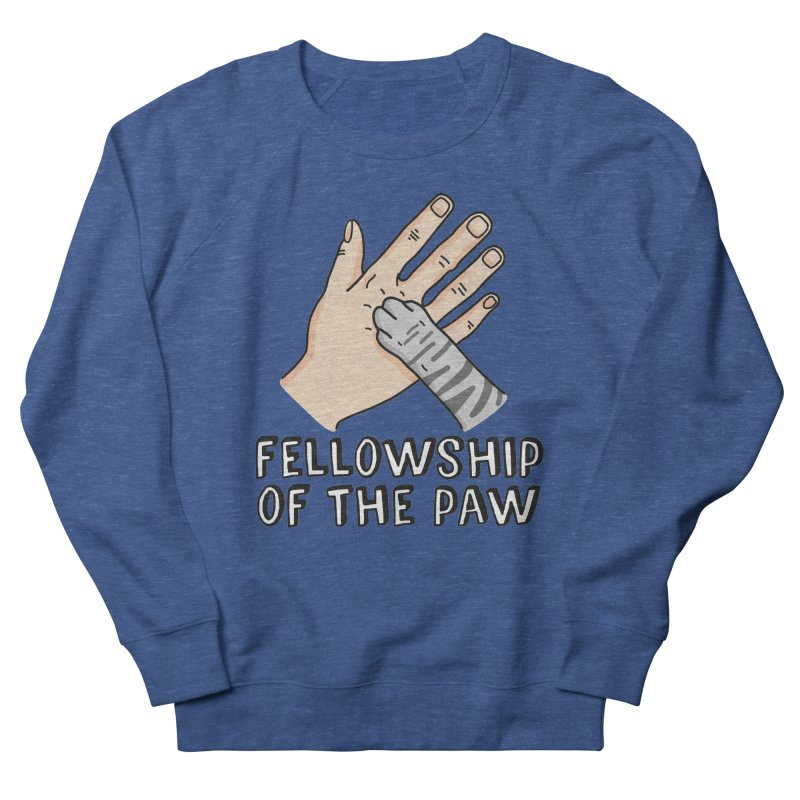 Fellowship of the Paw in Men's French Terry Sweatshirt Heather Royal by Beards and Cats Store