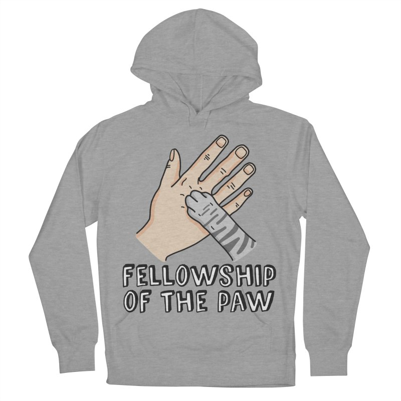 Fellowship of the Paw Men's French Terry Pullover Hoody by Beards and Cats Store