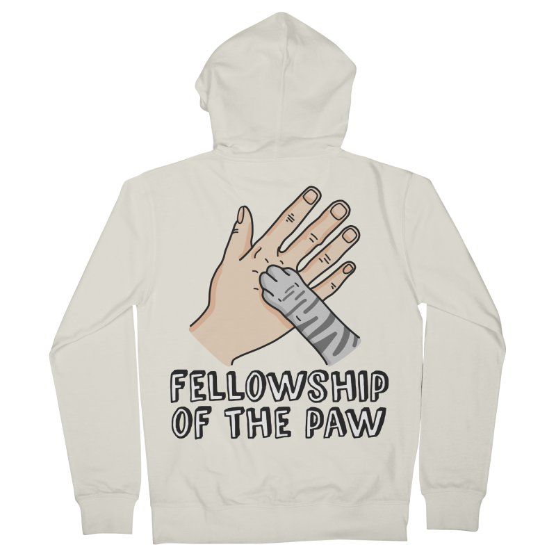 Fellowship of the Paw Men's French Terry Zip-Up Hoody by Beards and Cats Store