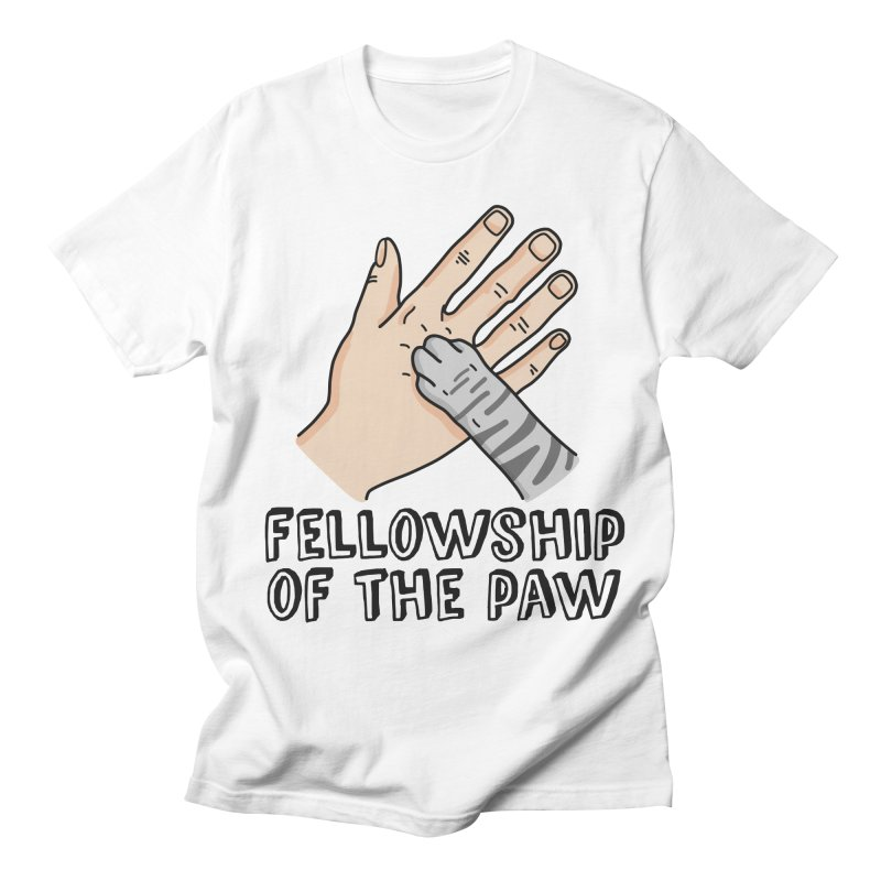 Fellowship of the Paw Women's Regular Unisex T-Shirt by Beards and Cats Store