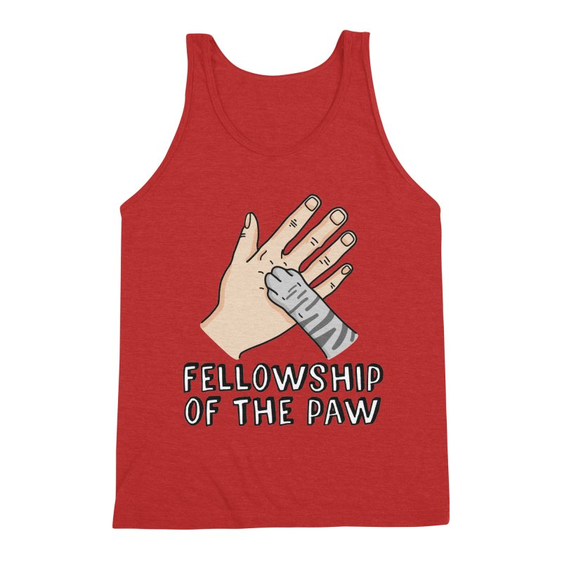 Fellowship of the Paw Men's Triblend Tank by Beards and Cats Store