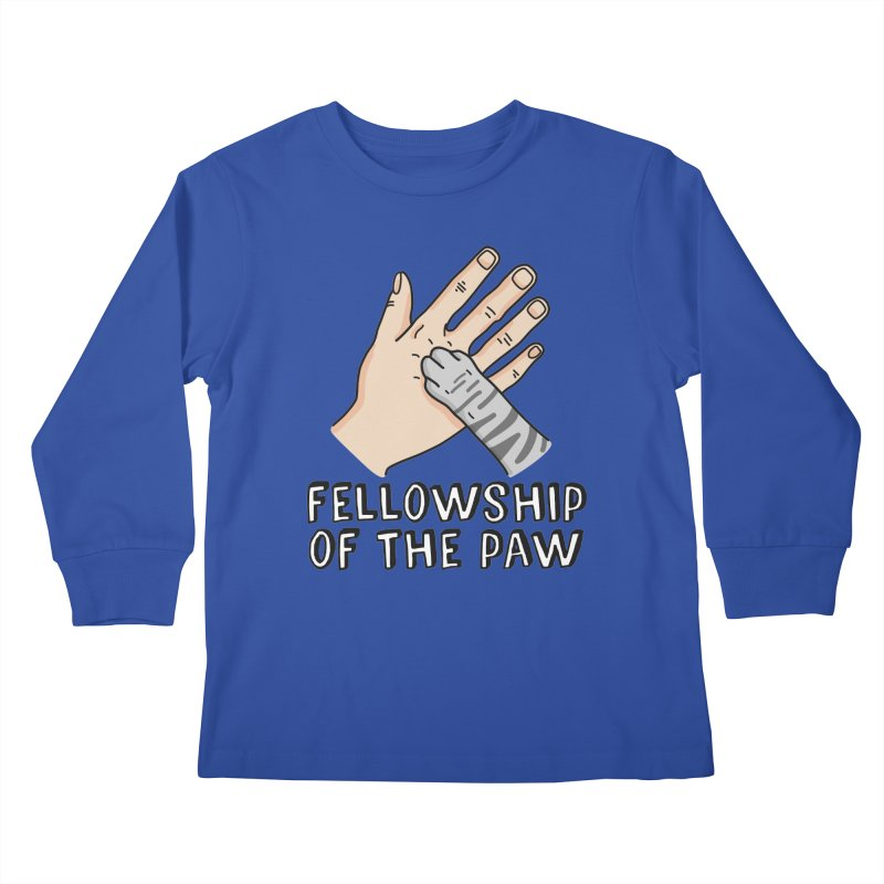 Fellowship of the Paw Kids Longsleeve T-Shirt by Beards and Cats Store