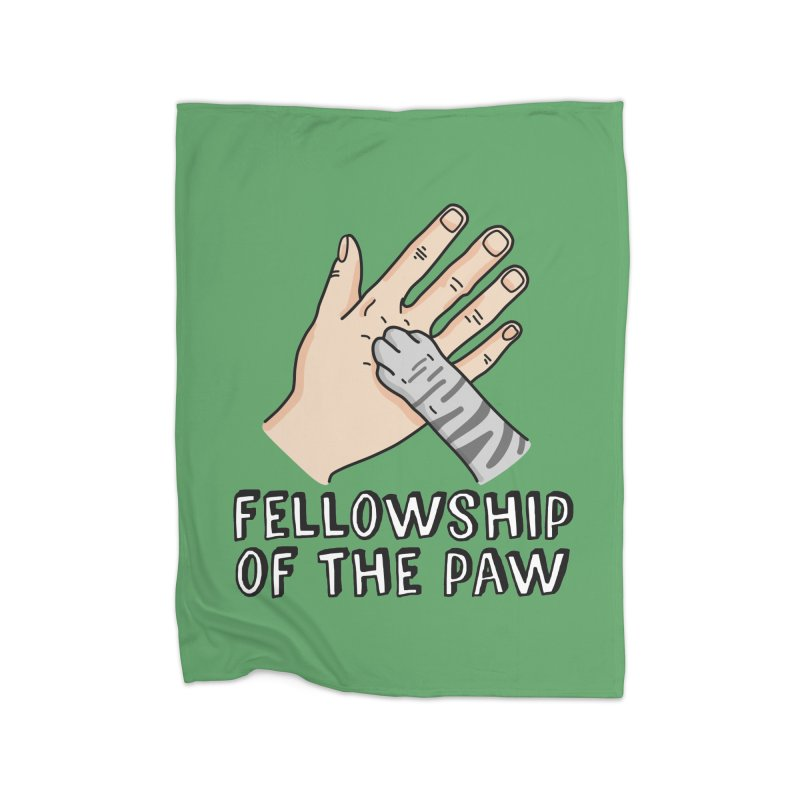Fellowship of the Paw Home Fleece Blanket Blanket by Beards and Cats Store